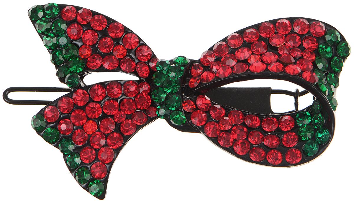 Зажим для волос Fashion House, цвет: красный, зеленый, черный. FH22606FH22606Элегантный зажим для волос Fashion House подчеркнет красоту вашей прически. Изделие выполнено из металла и дополнено оригинальным декоративным элементом в виде листка. Такой изысканный аксессуар не только подчеркнет вашу индивидуальность и женственность, но и станет практичным аксессуаром, с помощью которого вы сможете создавать креативные прически разных типов и стилей.