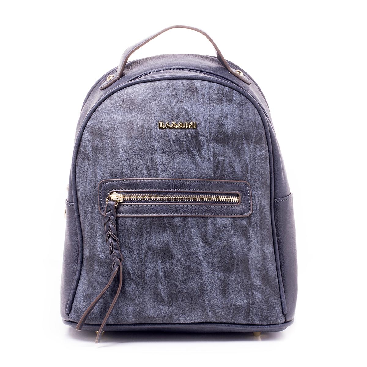 Рюкзак женский Baggini, цвет: синий. 29831/4329831/43Загрязнения на изделиях удаляется влажной мягкой тканью