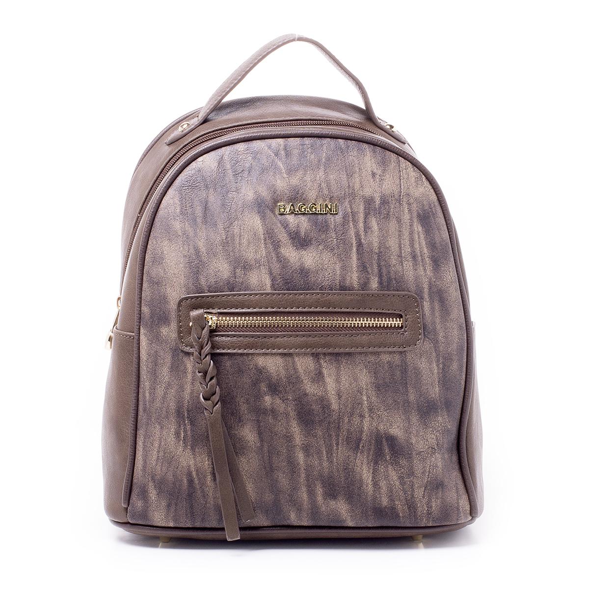 Рюкзак женский Baggini, цвет: темно-коричневый. 29831/2329831/23Загрязнения на изделиях удаляется влажной мягкой тканью