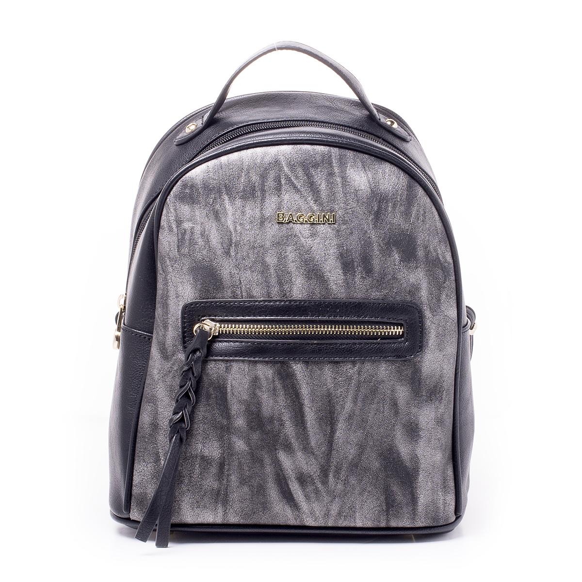 Рюкзак женский Baggini, цвет: черный. 29831/1029831/10Загрязнения на изделиях удаляется влажной мягкой тканью