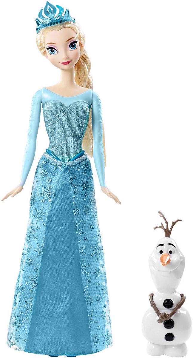Disney Frozen Кукла Эльза и ОлафCMM87Набор Disney Кукла Эльза и Олаф содержит в себе двух главных персонажей из популярного мультфильма Холодное сердце. Кукла в образе Эльзы изготовлена из качественного материала, дополнена подвижными конечностями и максимально дублирует вид героя из мультфильма. Эльза одета в роскошное платье принцессы, а ее пышную прическу в виде косы украшает диадема. Фигурка в образе Олафа, верного спутника Эльзы, также выполнена из качественного материала и выглядит в точности как персонаж из мультика. Такой набор привлечет внимание девочки и поможет ей воплотить множество сказочных игровых сюжетов.