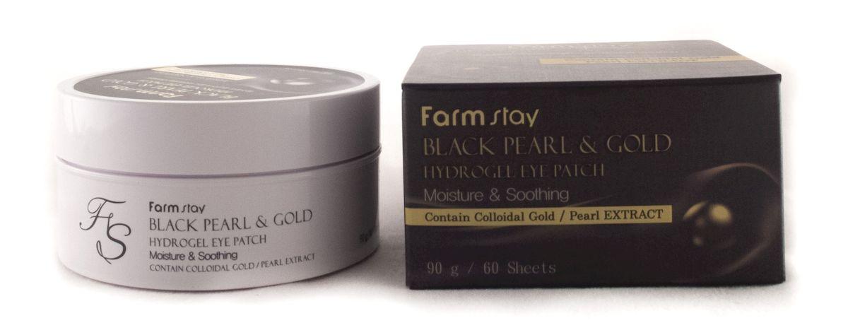 FarmStay Гидрогелевые патчи с золотом и черным жемчугом, 90 г7828041Набор из 60-и патчей для глаз с увлажняющим и разглаживающим эффектом прекрасно дополнит ваш ежедневный уход за кожей вокруг глаз. После 25 лет кожа век нуждается в дополнительном уходе, маска с экстрактом черного жемчуга поможет удержать преждевременное старение кожи.