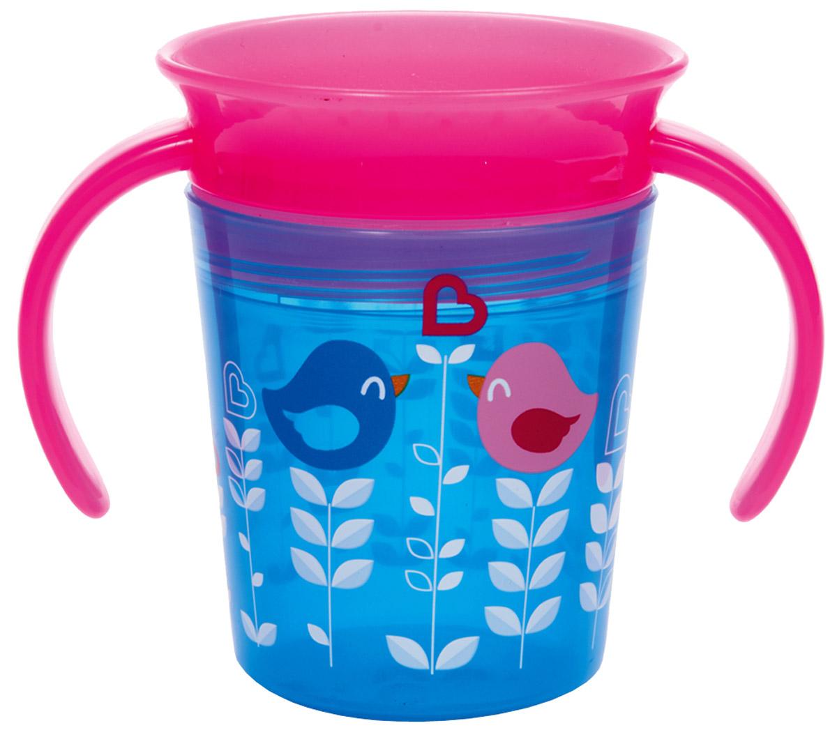 Munchkin Поильник-непроливайка Deco от 6 месяцев цвет голубой розовый 177 мл12294_голубой, розовыйПоильник-непроливайка Munchkin создан специально для приучения малыша пить из взрослой чашки. Герметичность поильника на 100% защищает от протекания жидкости. Специальная конструкция (360°) позволяет пить по всей окружности бортика. Технология без горлышка лучше подходит для зубов малыша, а также позволяет быстрее ребенку приучиться к взрослым чашкам. Клапан, обеспечивающий полную защиту от разливания, закрывается после питья. Поильник предназначен для детей в возрасте от 6 месяцев. Оснащен удобными ручками. Не содержит бисфенол А.
