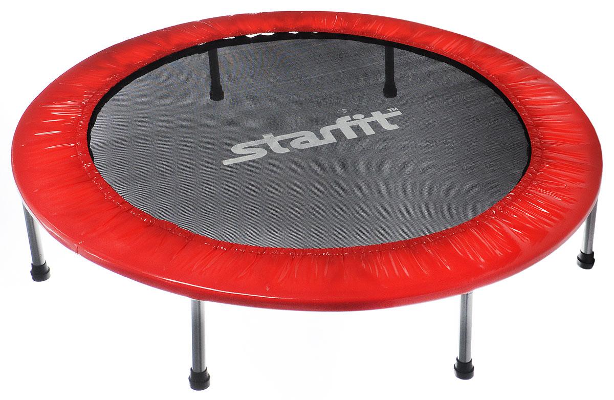 Батут Star Fit, цвет: красный, черный, серый, диаметр 114 смУТ-00008874Батут Star Fit предназначен для тренировок детей и взрослых. Его можно использовать как на улице, так и в помещении. На батуте можно прыгать, кувыркаться, играть, проводить спортивные состязания, экстремальные шоу и многое другое. Основная задача батута - физическое развитие, нагрузки, укрепление различных групп мышц, гармоничное развитие всего организма. Для занятий на батуте можно использовать дополнительный инвентарь: гантели, скакалку. Все это поможет разнообразить комплекс упражнений и достичь оптимального результата. А поскольку придется прилагать значительные усилия, чтобы скоординировать движения и сохранить равновесие, будьте уверены, что ни одна мышца тела не останется неохваченной. Защитные колпачки на ножках батута съемные. Занятия на батуте способствуют укреплению не только всех без исключения групп мышц, но и помогают развивать гибкость, а также сжигают немало лишних калорий! Диаметр батута: 114 см. Количество ножек: 6. Высота...