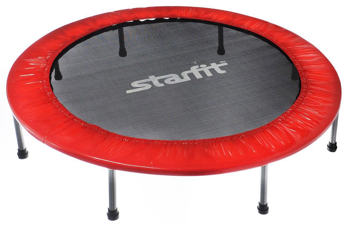 Батут Starfit, цвет: красный, черный, серый, диаметр 127 смУТ-00008875Батут Star Fit предназначен для тренировок детей и взрослых. Его можно использовать как на улице, так и в помещении. На батуте можно прыгать, кувыркаться, играть, проводить спортивные состязания, экстремальные шоу и многое другое. Основная задача батута - физическое развитие, нагрузки, укрепление различных групп мышц, гармоничное развитие всего организма. Для занятий на батуте можно использовать дополнительный инвентарь: гантели, скакалку. Все это поможет разнообразить комплекс упражнений и достичь оптимального результата. А поскольку придется прилагать значительные усилия, чтобы скоординировать движения и сохранить равновесие, будьте уверены, что ни одна мышца тела не останется неохваченной. Защитные колпачки на ножках батута съемные. Занятия на батуте способствуют укреплению не только всех без исключения групп мышц, но и помогают развивать гибкость, а также сжигают немало лишних калорий! Диаметр батута: 127 см. Количество ножек: 8. Высота...