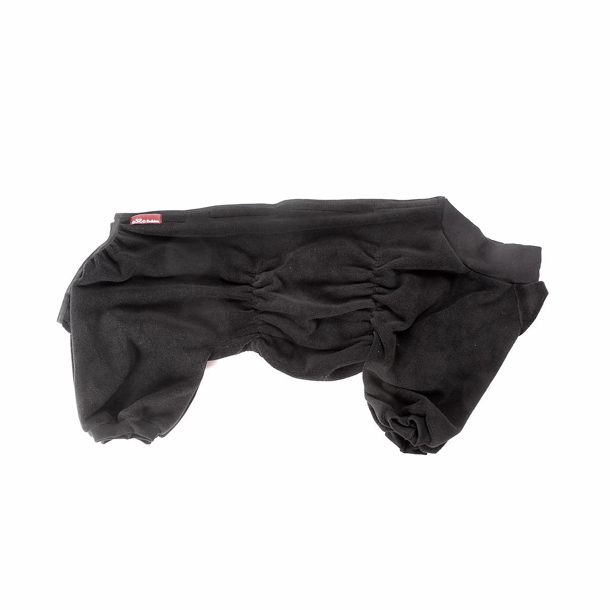 Комбинезон для собак OSSO Fashion, для мальчика, цвет: графит. Размер 45Кф-1016Комбинезон для собак OSSO Fashion выполнен из флиса. Комфортная посадка по корпусу достигается за счет резинок-утяжек под грудью и животом. На воротнике имеются завязки, для дополнительной фиксации. Можно носить самостоятельно и как поддевку под комбинезон для собак. Изделие отлично стирается, быстро сохнет. Длина спинки: 45 см. Объем груди: 56-66 см.