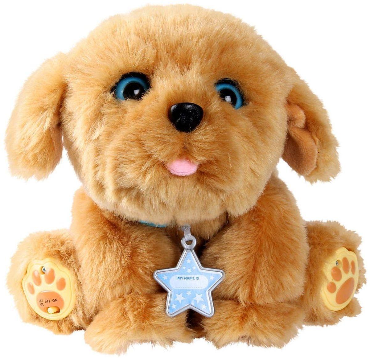 Little Live Pets Интерактивная игрушка Щенок моей мечты28185Интерактивная игрушка Little Live Pets Щенок моей мечты порадует вас пушистой шерсткой и забавным тявканьем. Собака для детей - это не только игрушка, но и самый первый и самый верный друг в их жизни. А также это первая возможность потренировать свою ответственность и хозяйственность, ведь с собакой нужно общаться, кормить и регулярно выгуливать. Но не всем выпадает такое счастье. Многие родители не могут брать на себя такую ответственность в силу разных обстоятельств. Тогда Щенок моей мечты сможет вам помочь. Щенок очень похож на настоящего. Он двигает головой, если его погладить, он будет открывать и закрывать глазки. Щенок радостно тявкает и даже скулит от удовольствия. Если ему нажать на носик, он сначала зафыркает, а потом оближет своего хозяина. В комплект входит бутылочка, из которой можно покормить питомца, при этом щенок будет издавать звуки, очень похожие на настоящие. Если щенка посадить, он сначала будет звать своего хозяина, а потом уснет, закрыв...