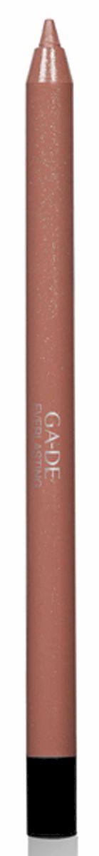 GA-DE Карандаш для губ Everlasting, тон № 82, 0,5 г122500082Плотная силиконовая текстура. Матовые и глянцевые оттенки. Устойчивая формула. Аргановое масло защищает кожу губ и обеспечивает мягкое и комфортное нанесение. Силиконовый карандаш корректирует контур губ. Он проводит чуть матовую линию, заполняет собой морщинки и не дает помаде или блеску растекаться. Хорошо подходят для использования летом и во время отпуска, так как не будет растекаться под воздействием солнца и жары.