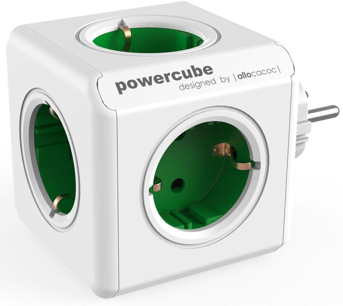 Allocacoc PowerCube Original, Green сетевой разветвитель