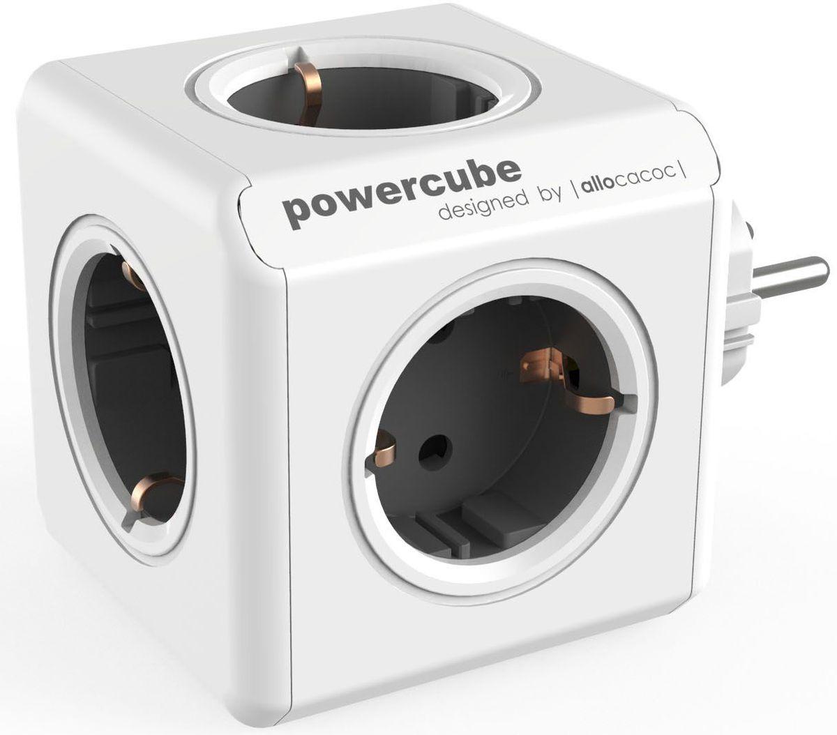 Allocacoc PowerCube Original, Grey сетевой разветвитель1100GY/DEORPCЭто первоначальная концепция Allocacoc PowerCube Original, включающая 5 розеток питания. Благодаря конструкции PowerCube, адаптеры не блокируют друг друга. Находясь в офисе, дома, на совещании или еще где-нибудь, бывает трудно найти свободную розетку для зарядки ноутбука или мобильного телефона.PowerCube решил эту проблему: количество розеток можно расширить, что позволит монтировать индивидуальный источник питания в пределах досягаемости.