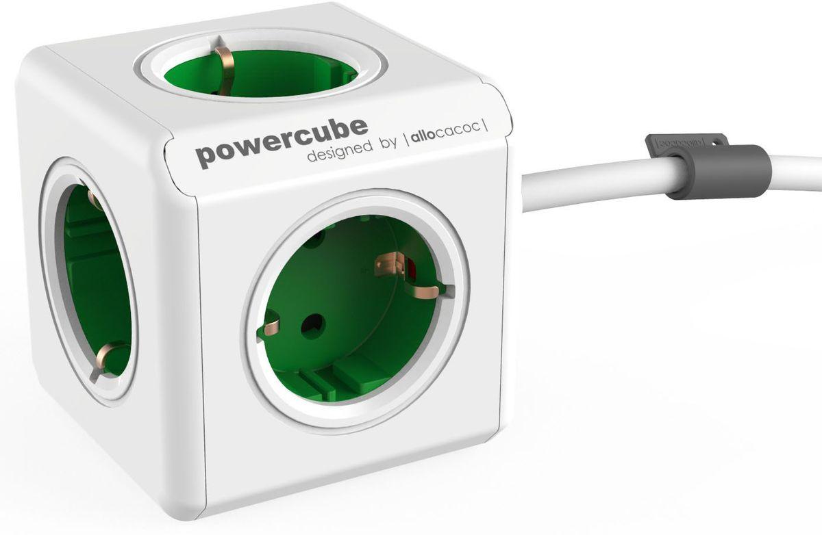 Allocacoc PowerCube Extended, Green сетевой разветвитель1300GN/DEEXPCПомимо функций модели PowerCube Original, данная версия также включает в себя кабель и пять розеток. Данная версия PowerCube, оснащенная креплением, может быть установлена в любом месте: на столе, на стене, под столешницей и т.д.