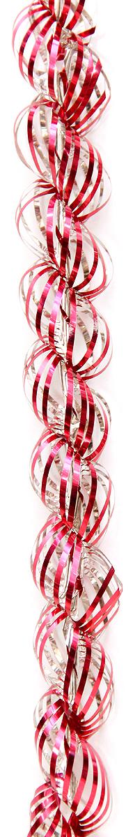 Мишура новогодняя Magic Time, цвет: красный, диаметр 4 см, длина 1,5 м. 3818338183Мишура новогодняя Magic Time, выполненная из ПЭТ (полиэтилентерефталата), поможет вам украсить свой дом к предстоящим праздникам. Новогодняя елка с таким украшением станет еще наряднее. Новогодней мишурой можно украсить все, что угодно - елку, квартиру, дачу, офис - как внутри, так и снаружи. Можно сложить новогодние поздравления, буквы и цифры, мишурой можно украсить и дополнить гирлянды, можно выделить дверные колонны, оплести дверные проемы.