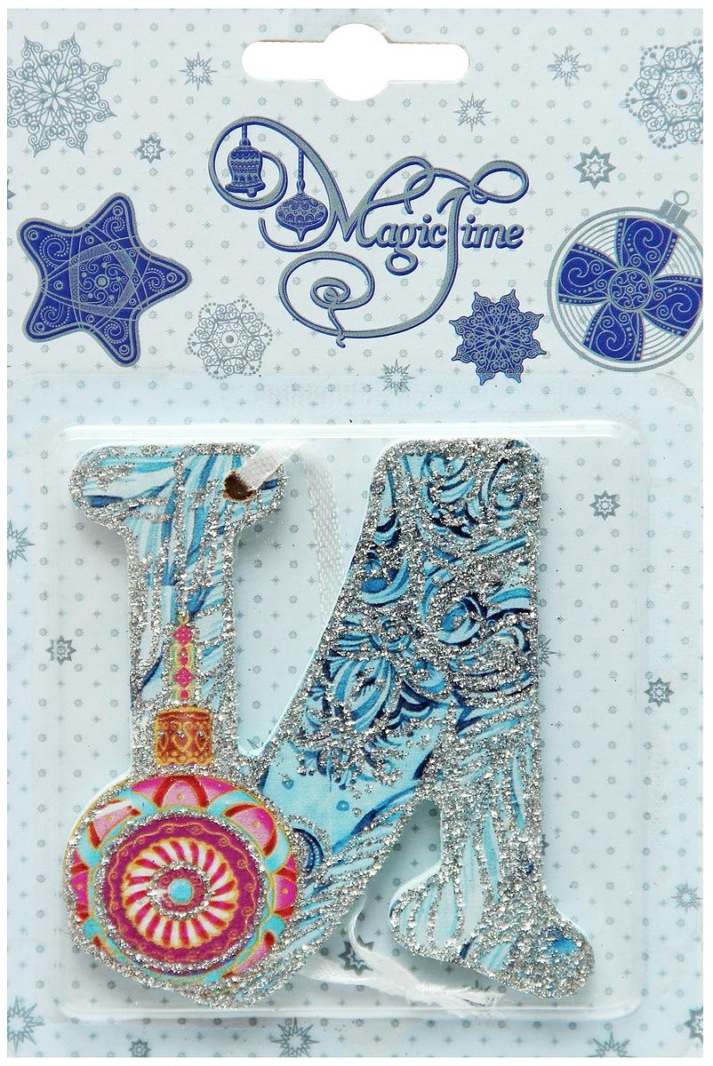 Украшение новогоднее подвесное Magic Time И, 8 х 7 см38443Новогоднее подвесное украшение Magic Time И выполнено из МДФ (древесина павловнии) в виде буквы и украшено блестками. С помощью специальной петельки украшение можно повесить в любом понравившемся вам месте. Но, конечно, удачнее всего оно будет смотреться на праздничной елке. Елочная игрушка - символ Нового года. Она несет в себе волшебство и красоту праздника. Создайте в своем доме атмосферу веселья и радости, украшая новогоднюю елку нарядными игрушками, которые будут из года в год накапливать теплоту воспоминаний.