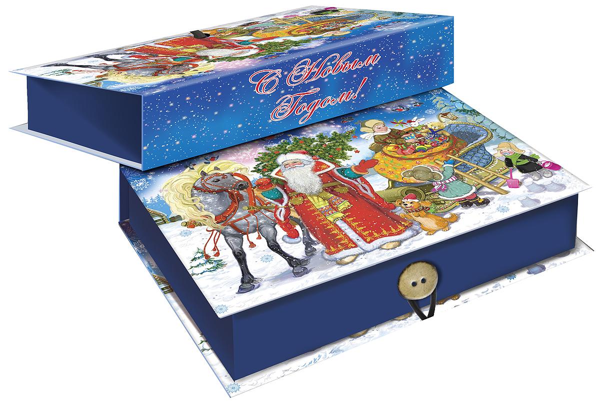 Коробка подарочная Magic Time Дед Мороз с елкой, 20 х 14 х 6 см. 3926239262Подарочная коробка Magic Time Дед Мороз с елкой, выполненная из мелованного, ламинированного картона, закрывается на пуговицу. Крышка оформлена декоративным рисунком. Подарочная коробка - это наилучшее решение, если вы хотите порадовать ваших близких и создать праздничное настроение, ведь подарок, преподнесенный в оригинальной упаковке, всегда будет самым эффектным и запоминающимся. Окружите близких людей вниманием и заботой, вручив презент в нарядном, праздничном оформлении. Плотность картона: 1100 г/м2.