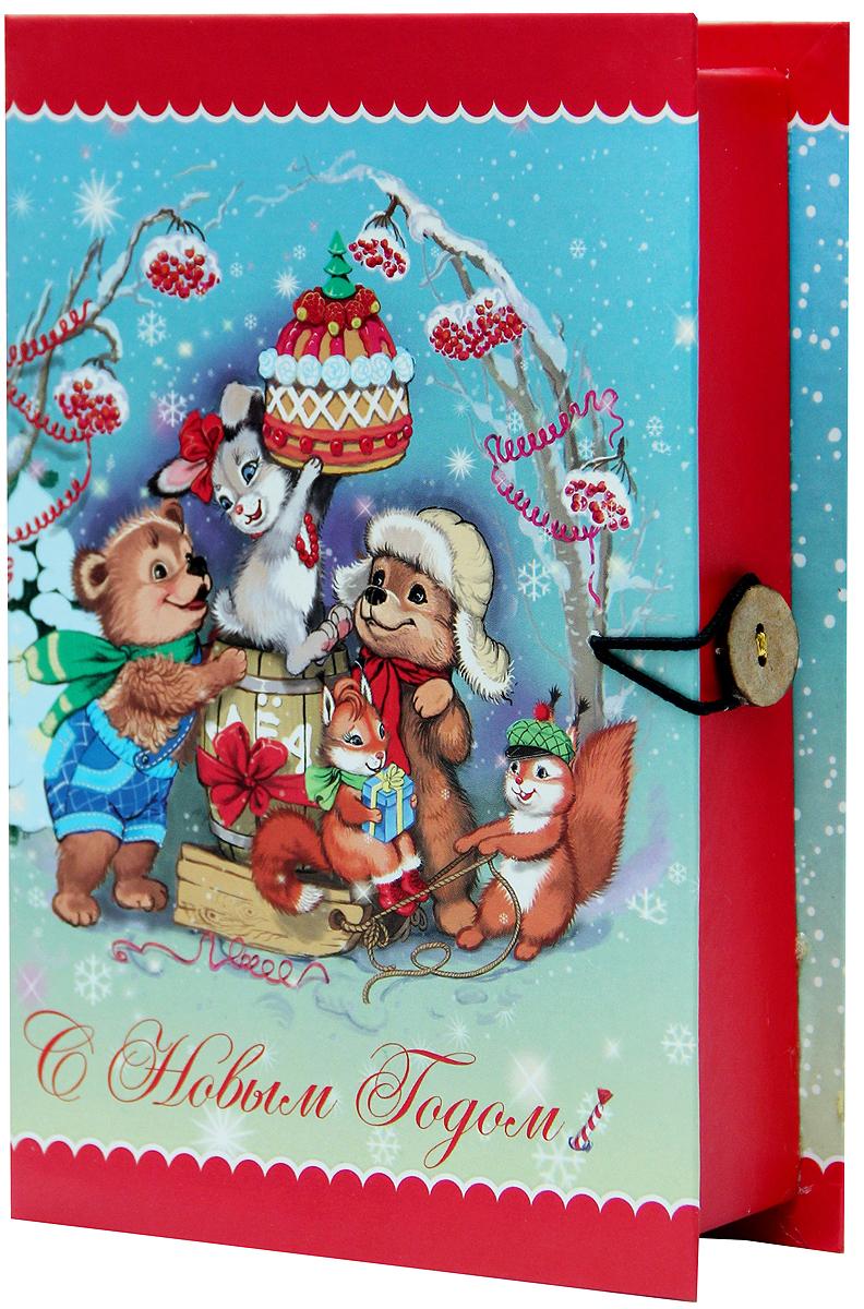 Коробка подарочная Magic Time Лесные зверюшки, 20 х 14 х 6 см. 3926439264Подарочная коробка Magic Time Лесные зверюшки, выполненная из мелованного, ламинированного картона, закрывается на пуговицу. Крышка оформлена декоративным рисунком. Подарочная коробка - это наилучшее решение, если вы хотите порадовать ваших близких и создать праздничное настроение, ведь подарок, преподнесенный в оригинальной упаковке, всегда будет самым эффектным и запоминающимся. Окружите близких людей вниманием и заботой, вручив презент в нарядном, праздничном оформлении. Плотность картона: 1100 г/м2.