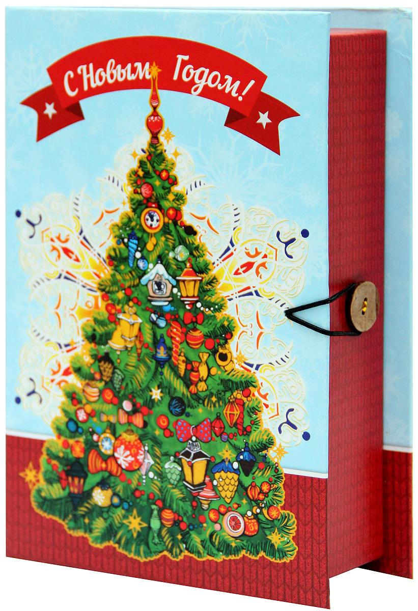 Коробка подарочная Magic Time Новогодняя елка, 20 х 14 х 6. 3926839268Подарочная коробка Magic Time Новогодняя елка, выполненная из мелованного, ламинированного картона, закрывается на пуговицу. Крышка оформлена декоративным рисунком. Подарочная коробка - это наилучшее решение, если вы хотите порадовать ваших близких и создать праздничное настроение, ведь подарок, преподнесенный в оригинальной упаковке, всегда будет самым эффектным и запоминающимся. Окружите близких людей вниманием и заботой, вручив презент в нарядном, праздничном оформлении. Плотность картона: 1100 г/м2.
