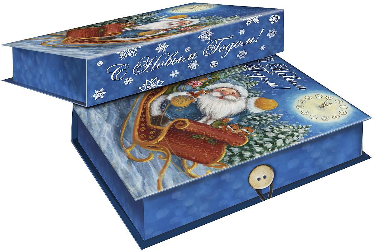 """Коробка подарочная Magic Time """"Дед Мороз в санях"""", 20 х 14 х 6. 39270"""