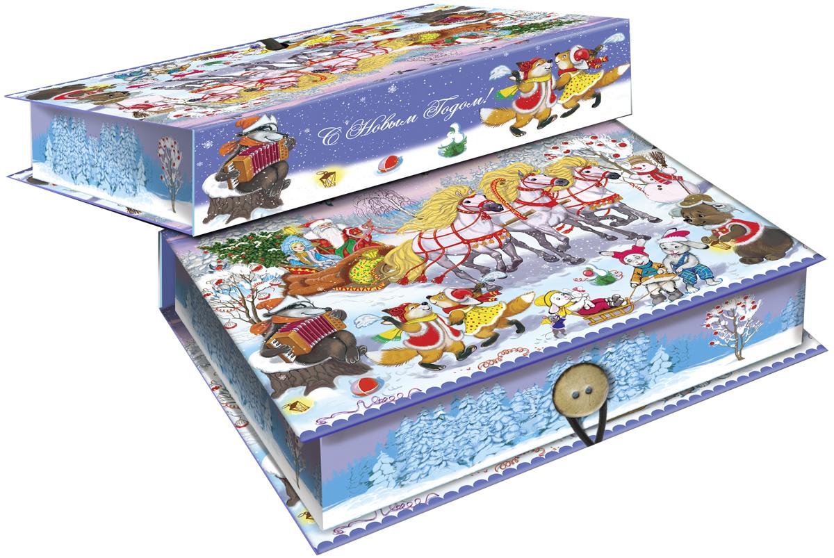 Коробка подарочная Magic Time Новогодний праздник, 18 х 12 х 5 см. 4178041780Подарочная коробка Magic Time Новогодний праздник, выполненная из мелованного, ламинированного картона, закрывается на пуговицу. Крышка оформлена декоративным рисунком. Подарочная коробка - это наилучшее решение, если вы хотите порадовать ваших близких и создать праздничное настроение, ведь подарок, преподнесенный в оригинальной упаковке, всегда будет самым эффектным и запоминающимся. Окружите близких людей вниманием и заботой, вручив презент в нарядном, праздничном оформлении. Плотность картона: 1100 г/м2.