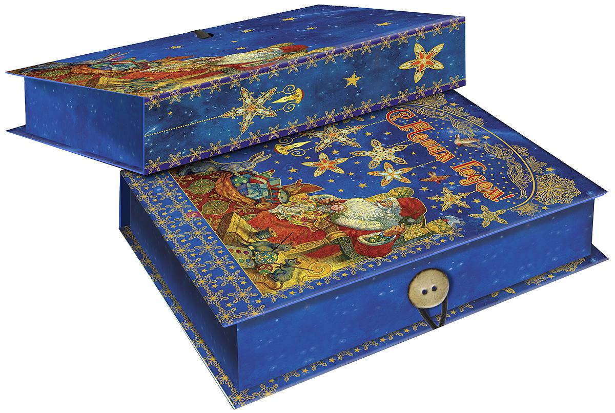 Коробка подарочная Magic Time Мастерская Деда Мороза, 18 х 12 х 5 см. 4179041790Подарочная коробка Magic Time Мастерская Деда Мороза, выполненная из мелованного, ламинированного картона, закрывается на пуговицу. Крышка оформлена декоративным рисунком. Подарочная коробка - это наилучшее решение, если вы хотите порадовать ваших близких и создать праздничное настроение, ведь подарок, преподнесенный в оригинальной упаковке, всегда будет самым эффектным и запоминающимся. Окружите близких людей вниманием и заботой, вручив презент в нарядном, праздничном оформлении. Плотность картона: 1100 г/м2.