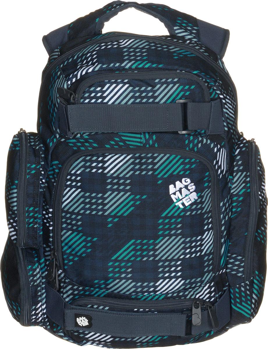BagMaster Рюкзак детский цвет черный серыйBM-OHIO 0214 BДетский рюкзак BagMaster сочетает в себе современный дизайн, функциональность и долговечность. Выполнен из прочных и высококачественных материалов. Содержит одно вместительное отделение, закрывающееся на застежку-молнию с двумя бегунками. Внутри имеется специальное отделение для ноутбука диагональю 15,4 дюйма. На лицевой стороне расположены три накладных кармана на молнии. Внутри наибольшего кармана имеются: два открытых кармашка, четыре фиксатора для пишущих принадлежностей, карман на молнии и мягкая невысокая перегородка. Рюкзак оснащен большим боковым карманом на молнии для бутылки с водой, на котором расположен небольшой вертикальный кармашек на молнии, а с другой стороны - два накладных кармана на застежках-молниях. Мягкие широкие лямки повторяют естественный изгиб плечевого пояса, обеспечивая комфортную посадку рюкзака и свободу движений. Пряжки лямок позволяют одним движением отрегулировать посадку уже надетого изделия по фигуре. Грудное крепление предусмотрено для...