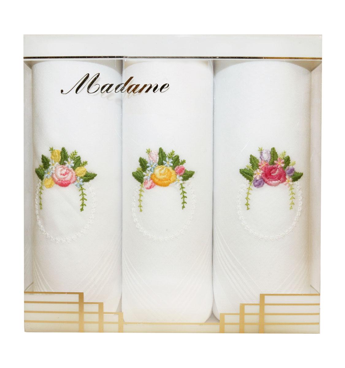 06601-3 Zlata Korunka Носовой платок женский, цвет: мультиколор, 30х30 см, 3 шт06601-3Платки носовые женские в упаковке по 3 шт. Носовые платки изготовлены из 100% хлопка, так как этот материал приятен в использовании, хорошо стирается, не садится, отлично впитывает влагу.