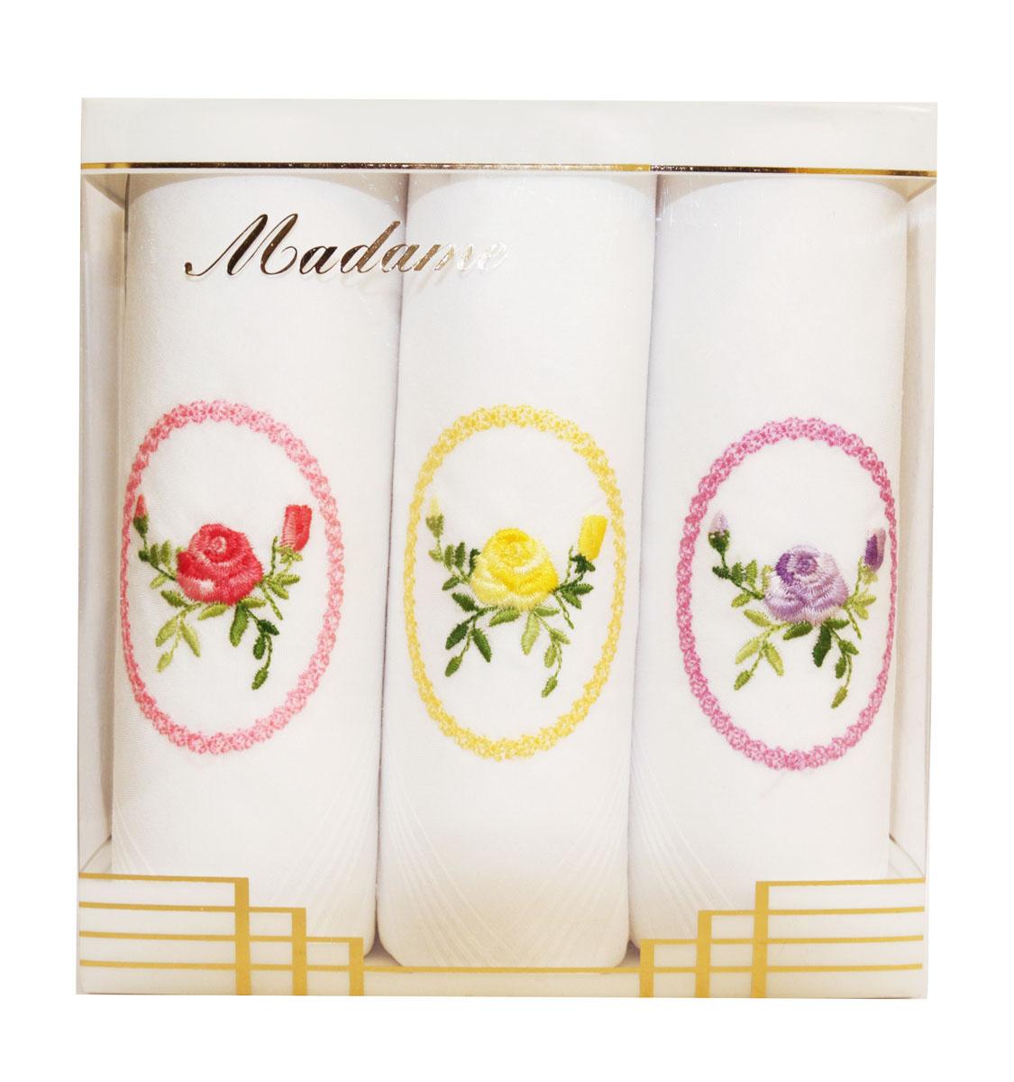 06601-8 Zlata Korunka Носовой платок женский, цвет: мультиколор, 30х30 см, 3 шт06601-8Платки носовые женские в упаковке по 3 шт. Носовые платки изготовлены из 100% хлопка, так как этот материал приятен в использовании, хорошо стирается, не садится, отлично впитывает влагу.