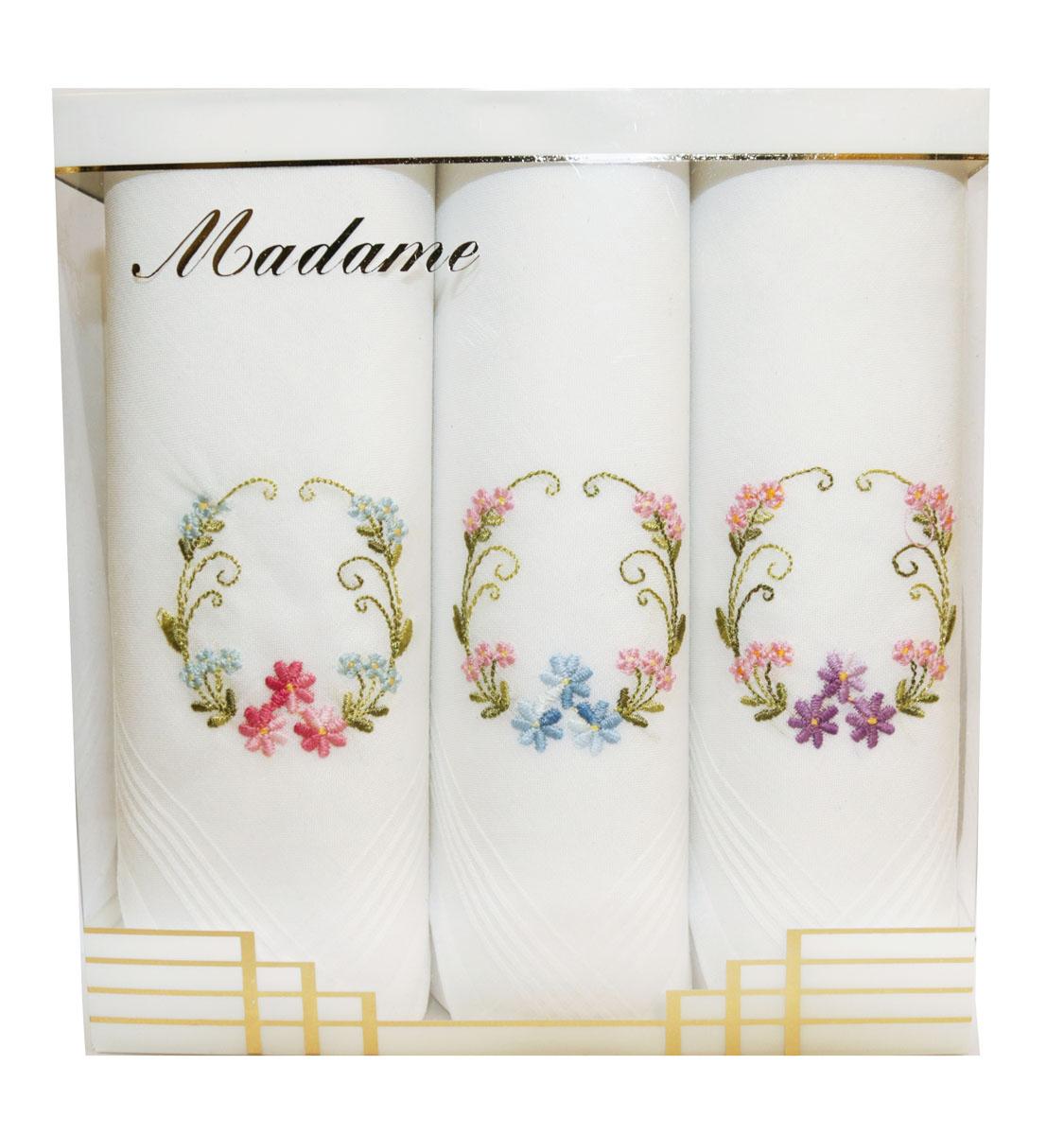 06601-9 Zlata Korunka Носовой платок женский, цвет: мультиколор, 30х30 см, 3 шт06601-9Платки носовые женские в упаковке по 3 шт. Носовые платки изготовлены из 100% хлопка, так как этот материал приятен в использовании, хорошо стирается, не садится, отлично впитывает влагу.
