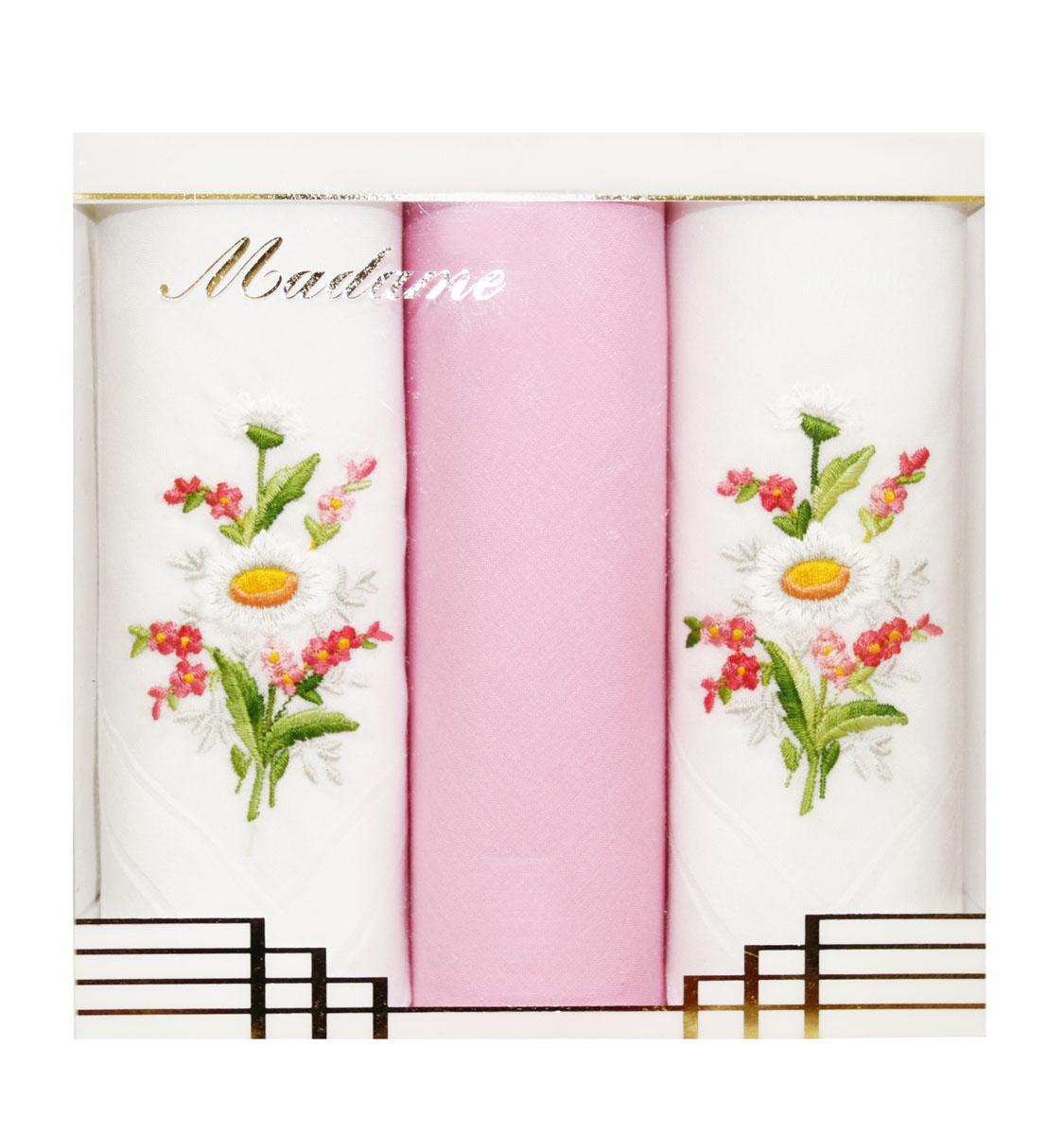 25605-20 Zlata Korunka Носовой платок женский, цвет: мультиколор, 29х29 см, 3 шт25605-20Платки носовые женские в упаковке по 3 шт. Носовые платки изготовлены из 100% хлопка, так как этот материал приятен в использовании, хорошо стирается, не садится, отлично впитывает влагу.