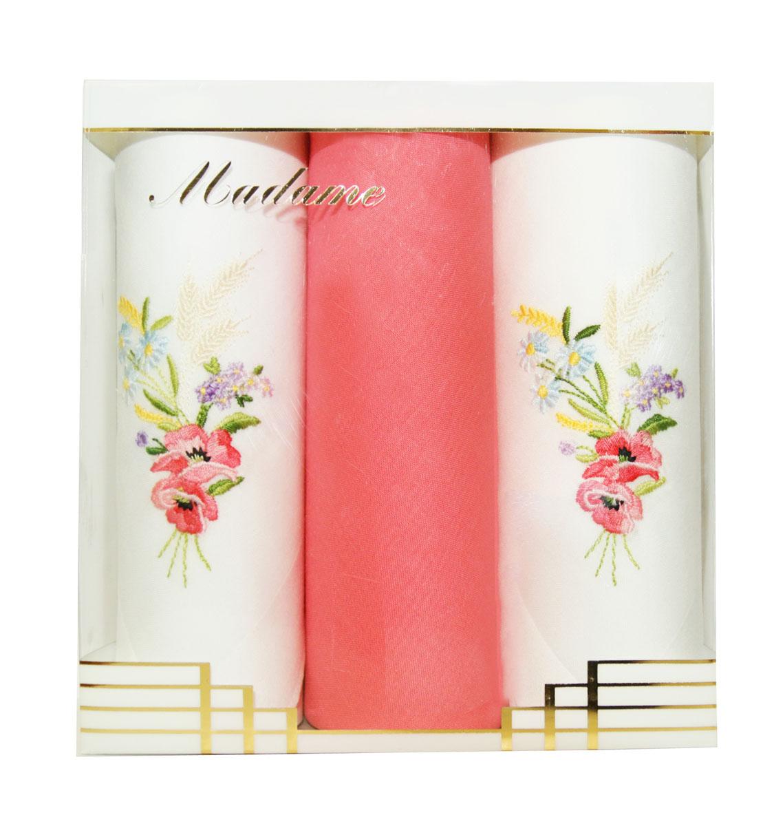 25605-3 Zlata Korunka Носовой платок женский, цвет: мультиколор, 29х29 см, 3 шт25605-3Платки носовые женские в упаковке по 3 шт. Носовые платки изготовлены из 100% хлопка, так как этот материал приятен в использовании, хорошо стирается, не садится, отлично впитывает влагу.