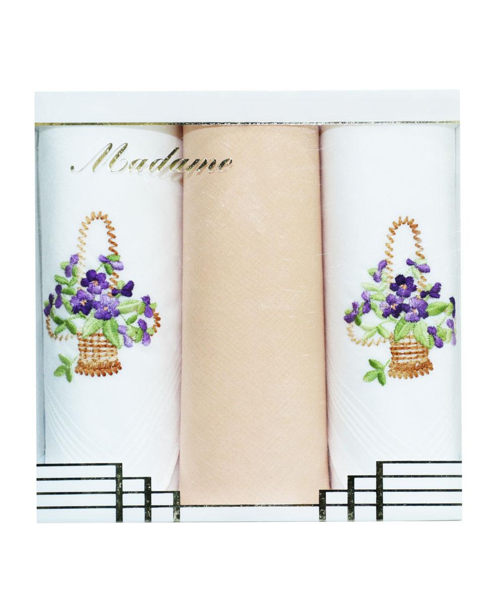 25605-30 Zlata Korunka Носовой платок женский, цвет: мультиколор, 30х30 см, 3 шт25605-30Платки носовые женские в упаковке по 3 шт. Носовые платки изготовлены из 100% хлопка, так как этот материал приятен в использовании, хорошо стирается, не садится, отлично впитывает влагу.