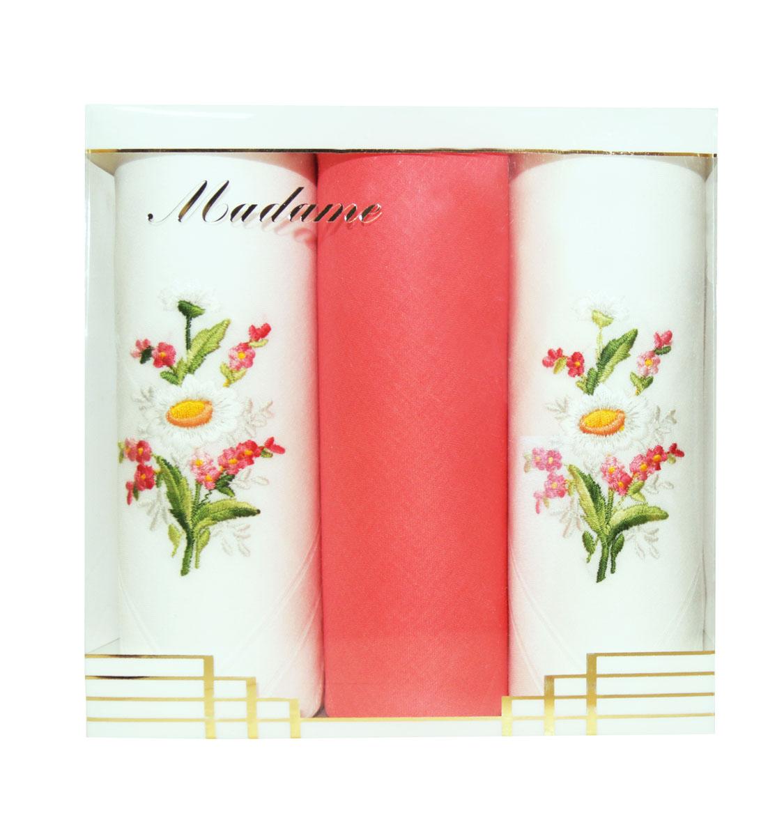 25605-5 Zlata Korunka Носовой платок женский, цвет: мультиколор, 30х30 см, 3 шт25605-5Платки носовые женские в упаковке по 3 шт. Носовые платки изготовлены из 100% хлопка, так как этот материал приятен в использовании, хорошо стирается, не садится, отлично впитывает влагу.