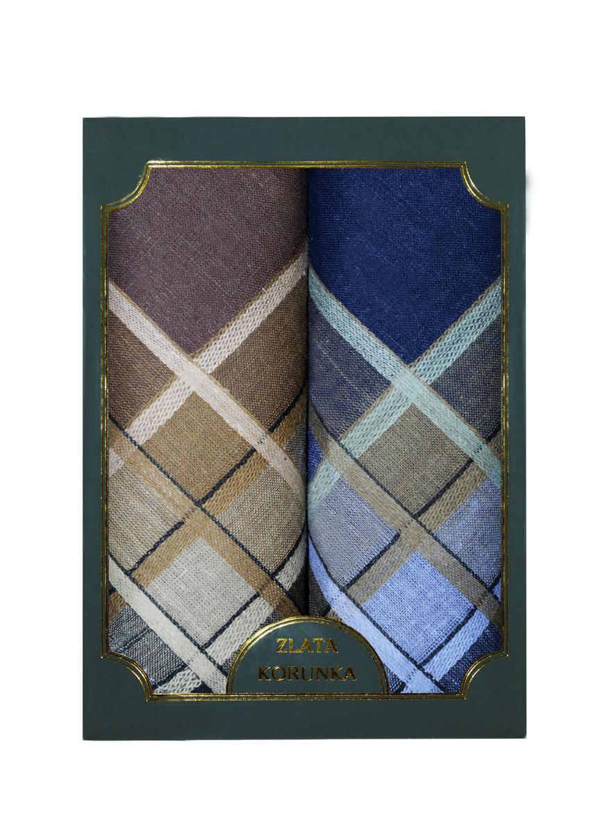 40214-1 Zlata Korunka Носовой платок мужской, цвет: мультиколор, 38х38 см, 2 шт40214-1Платки носовые мужские в упаковке по 2 шт. Носовые платки изготовлены из 100% хлопка, так как этот материал приятен в использовании, хорошо стирается, не садится, отлично впитывает влагу.