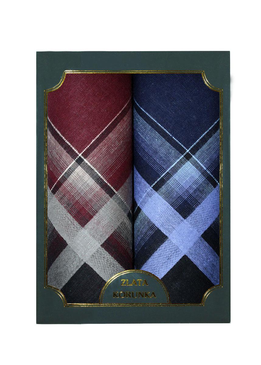 40214-2 Zlata Korunka Носовой платок мужской, цвет: мультиколор, 38х38 см, 2 шт40214-2Платки носовые мужские в упаковке по 2 шт. Носовые платки изготовлены из 100% хлопка, так как этот материал приятен в использовании, хорошо стирается, не садится, отлично впитывает влагу.