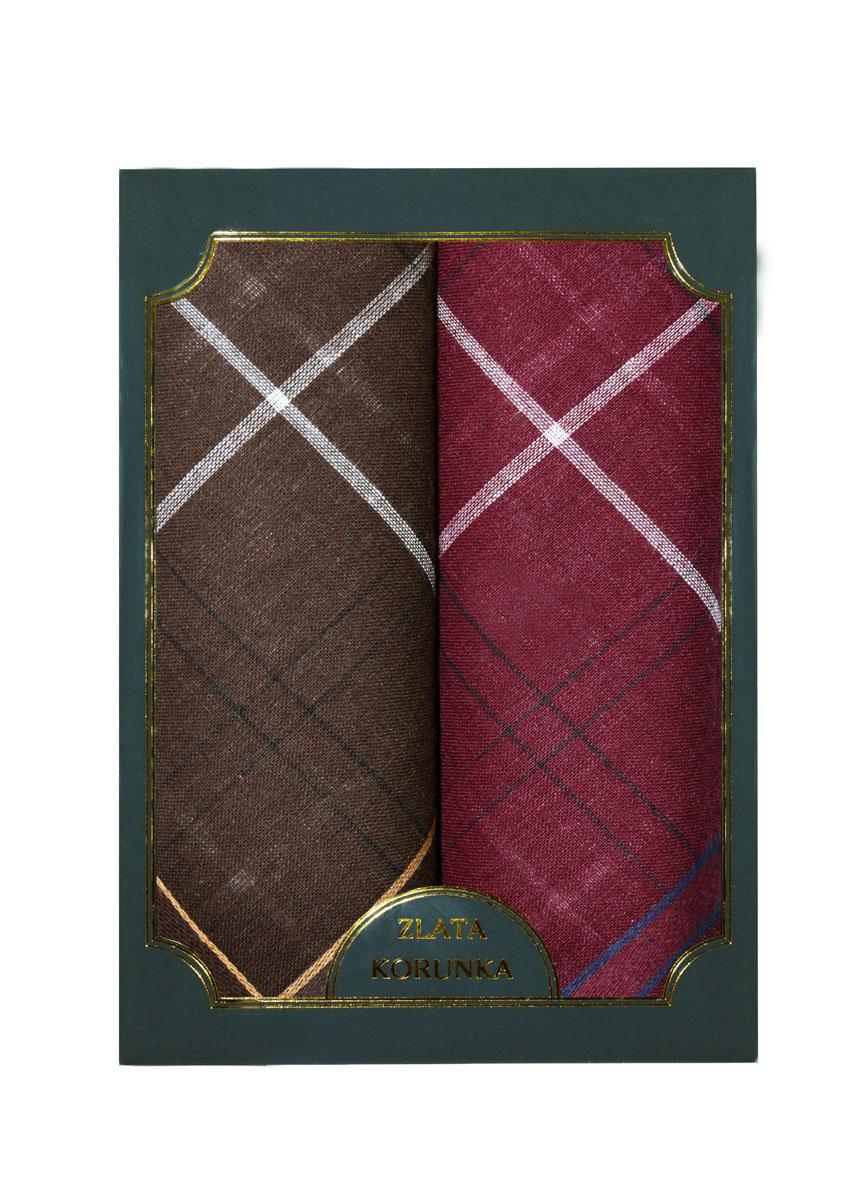 40214-4 Zlata Korunka Носовой платок мужской, цвет: мультиколор, 38х38 см, 2 шт40214-4Платки носовые мужские в упаковке по 2 шт. Носовые платки изготовлены из 100% хлопка, так как этот материал приятен в использовании, хорошо стирается, не садится, отлично впитывает влагу.