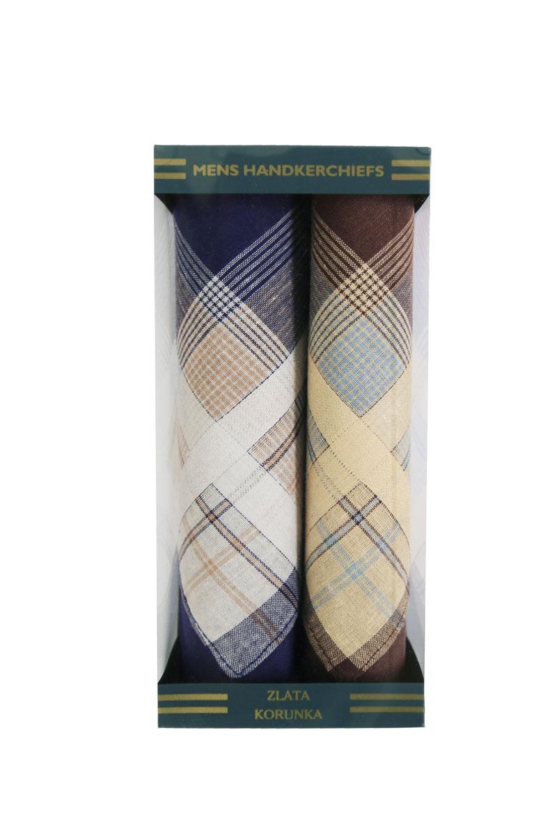 40215-2 Zlata Korunka Носовой платок мужской, цвет: мультиколор, 40х40 см, 2 шт40215-2Платки носовые мужские в упаковке по 2 шт. Носовые платки изготовлены из 100% хлопка, так как этот материал приятен в использовании, хорошо стирается, не садится, отлично впитывает влагу.