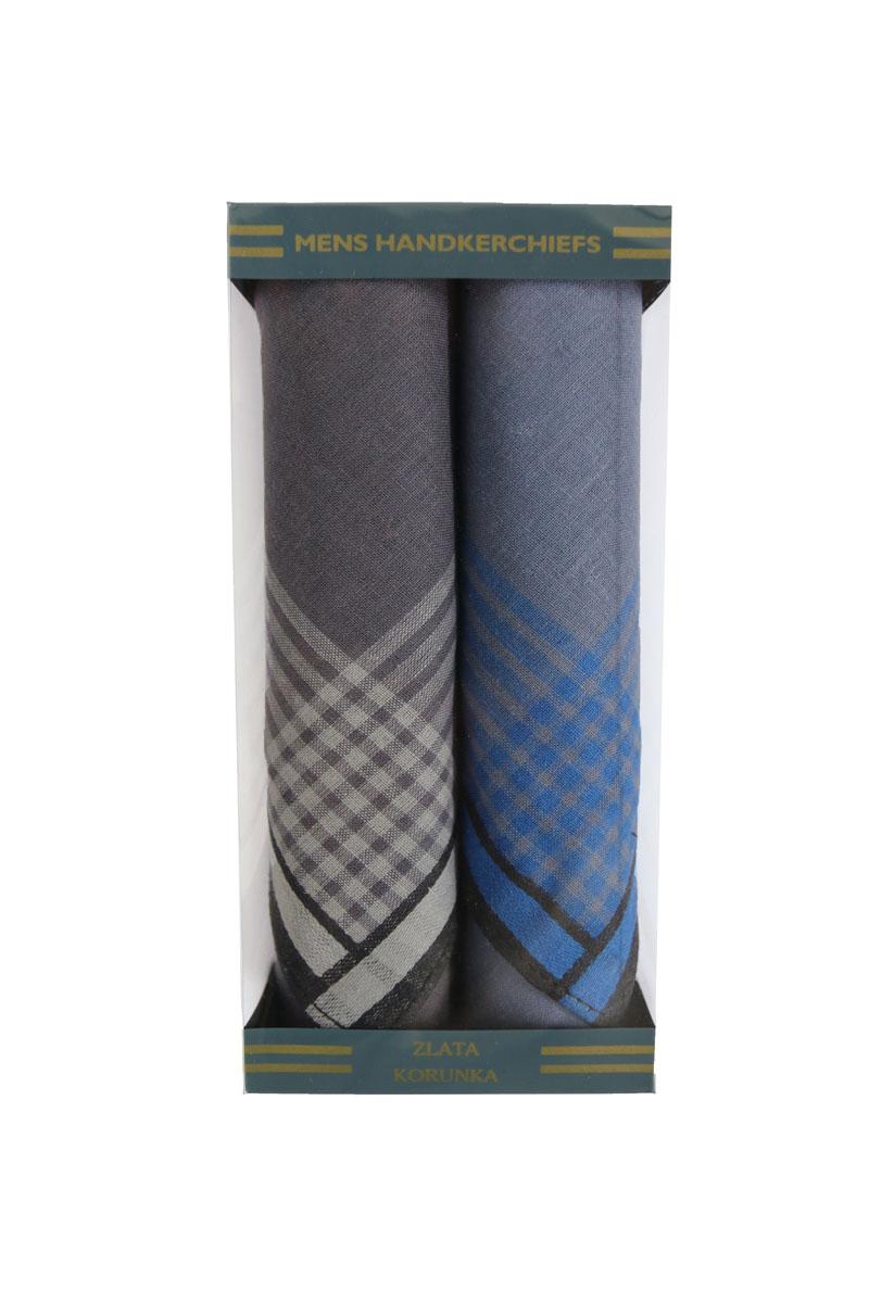 40215-4 Zlata Korunka Носовой платок мужской, цвет: мультиколор, 40х40 см, 2 шт40215-4Платки носовые мужские в упаковке по 2 шт. Носовые платки изготовлены из 100% хлопка, так как этот материал приятен в использовании, хорошо стирается, не садится, отлично впитывает влагу.