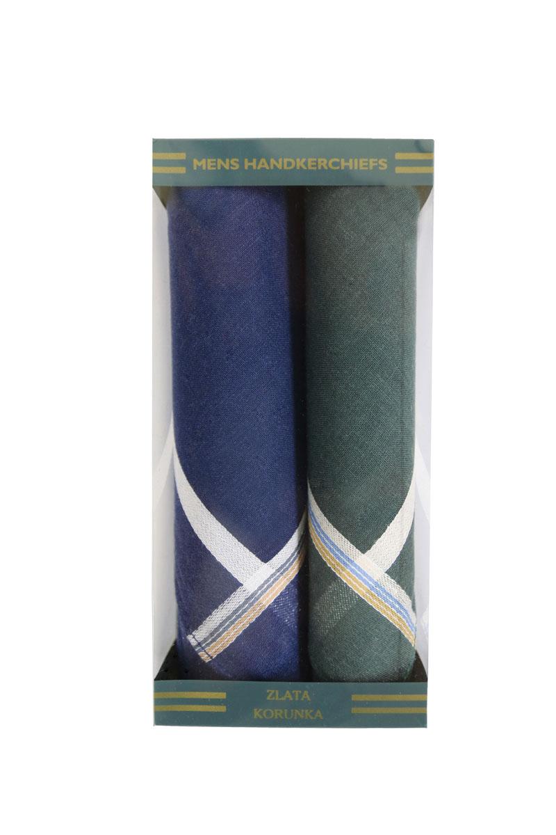 40215-5 Zlata Korunka Носовой платок мужской, цвет: мультиколор, 40х40 см, 2 шт40215-5Платки носовые мужские в упаковке по 2 шт. Носовые платки изготовлены из 100% хлопка, так как этот материал приятен в использовании, хорошо стирается, не садится, отлично впитывает влагу.