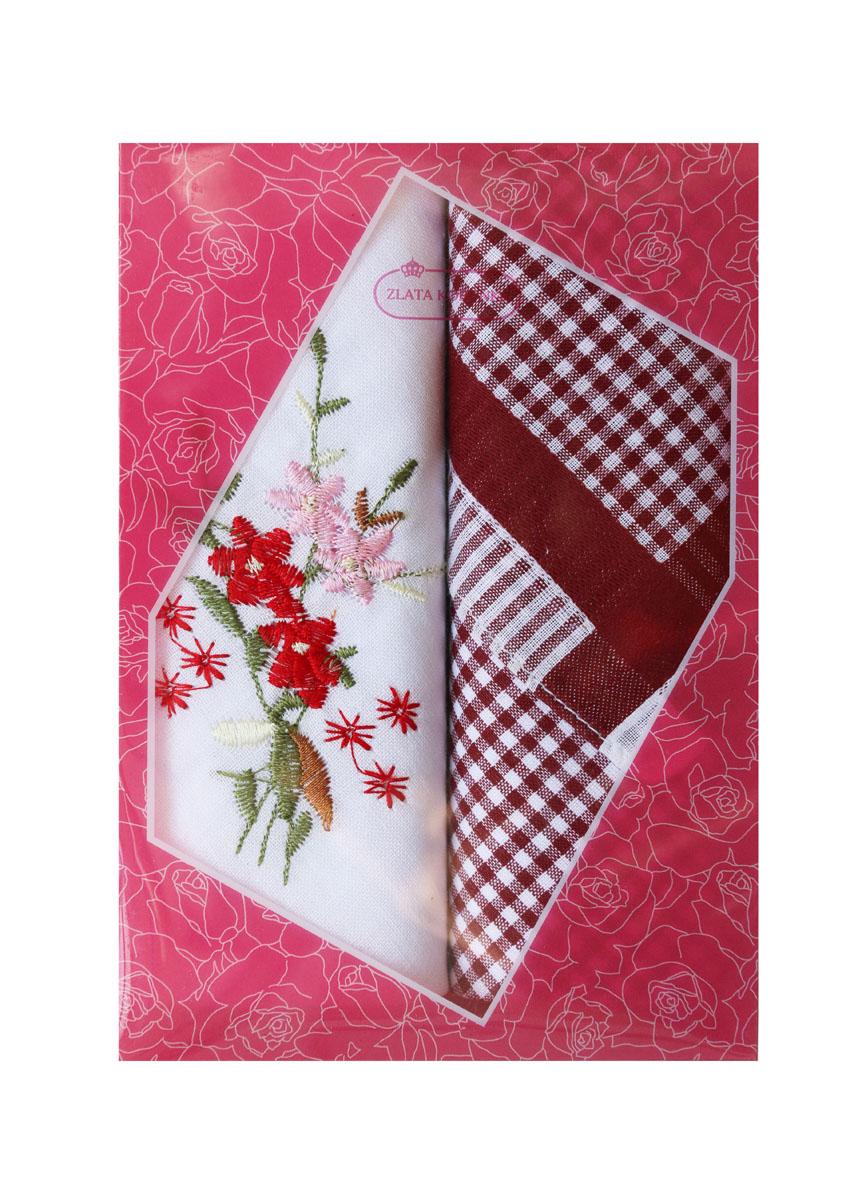 40222-17 Zlata Korunka Носовой платок женский, цвет: мультиколор, 29х29 см, 2 шт40222-17Платки носовые женские в упаковке по 2 шт. Носовые платки изготовлены из 100% хлопка, так как этот материал приятен в использовании, хорошо стирается, не садится, отлично впитывает влагу.