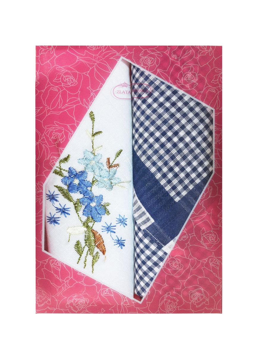 40222-19 Zlata Korunka Носовой платок женский, цвет: мультиколор, 29х29 см, 2 шт40222-19Платки носовые женские в упаковке по 2 шт. Носовые платки изготовлены из 100% хлопка, так как этот материал приятен в использовании, хорошо стирается, не садится, отлично впитывает влагу.