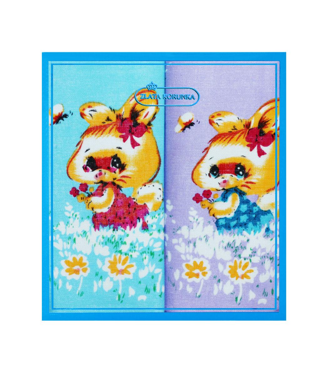 40230-7 Zlata Korunka Носовой платок детский, цвет: мультиколор, 21х21 см, 2 шт40230-7Платки носовые детские в упаковке по 2 шт. Носовые платки изготовлены из 100% хлопка, так как этот материал приятен в использовании, хорошо стирается, не садится, отлично впитывает влагу.
