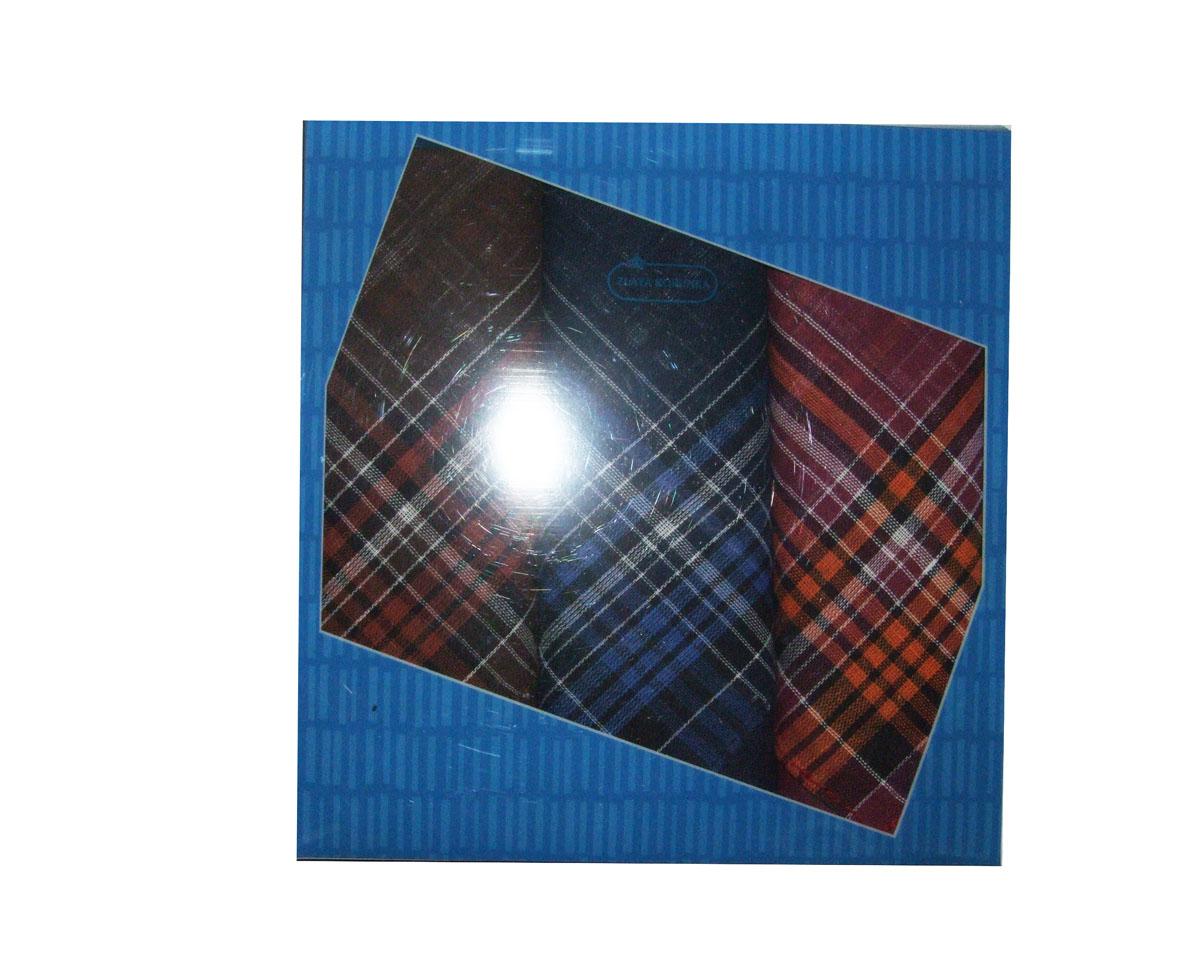 40311 Zlata Korunka Носовой платок мужской, цвет: мультиколор, 27х27 см, 3 шт40311Платки носовые мужские в упаковке по 3 шт. Носовые платки изготовлены из 100% хлопка, так как этот материал приятен в использовании, хорошо стирается, не садится, отлично впитывает влагу.