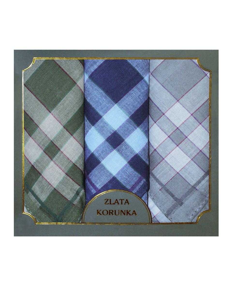 40313-2 Zlata Korunka Носовой платок мужской, цвет: мультиколор, 38х38 см, 3 шт40313-2Платки носовые мужские в упаковке по 3 шт. Носовые платки изготовлены из 100% хлопка, так как этот материал приятен в использовании, хорошо стирается, не садится, отлично впитывает влагу.