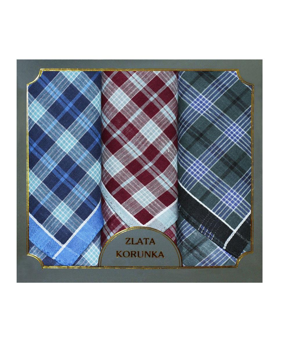 40313-3 Zlata Korunka Носовой платок мужской, цвет: мультиколор, 38х38 см, 3 шт40313-3Платки носовые мужские в упаковке по 3 шт. Носовые платки изготовлены из 100% хлопка, так как этот материал приятен в использовании, хорошо стирается, не садится, отлично впитывает влагу.