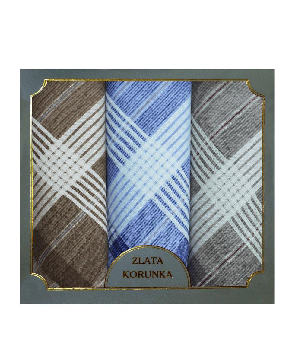 40313-5 Zlata Korunka Носовой платок мужской, цвет: мультиколор, 38х38 см, 3 шт40313-5Платки носовые мужские в упаковке по 3 шт. Носовые платки изготовлены из 100% хлопка, так как этот материал приятен в использовании, хорошо стирается, не садится, отлично впитывает влагу.