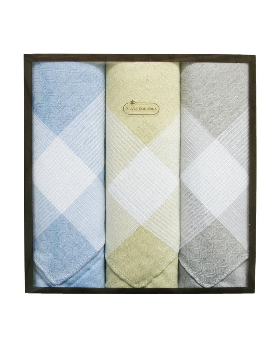 40314-2 Zlata Korunka Носовой платок мужской, цвет: мультиколор, 38х38 см, 3 шт40314-2Платки носовые мужские в упаковке по 3 шт. Носовые платки изготовлены из 100% хлопка, так как этот материал приятен в использовании, хорошо стирается, не садится, отлично впитывает влагу.