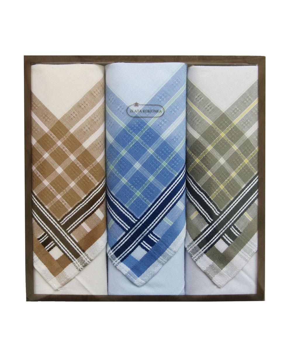 40314-3 Zlata Korunka Носовой платок мужской, цвет: мультиколор, 38х38 см, 3 шт40314-3Платки носовые мужские в упаковке по 3 шт. Носовые платки изготовлены из 100% хлопка, так как этот материал приятен в использовании, хорошо стирается, не садится, отлично впитывает влагу.