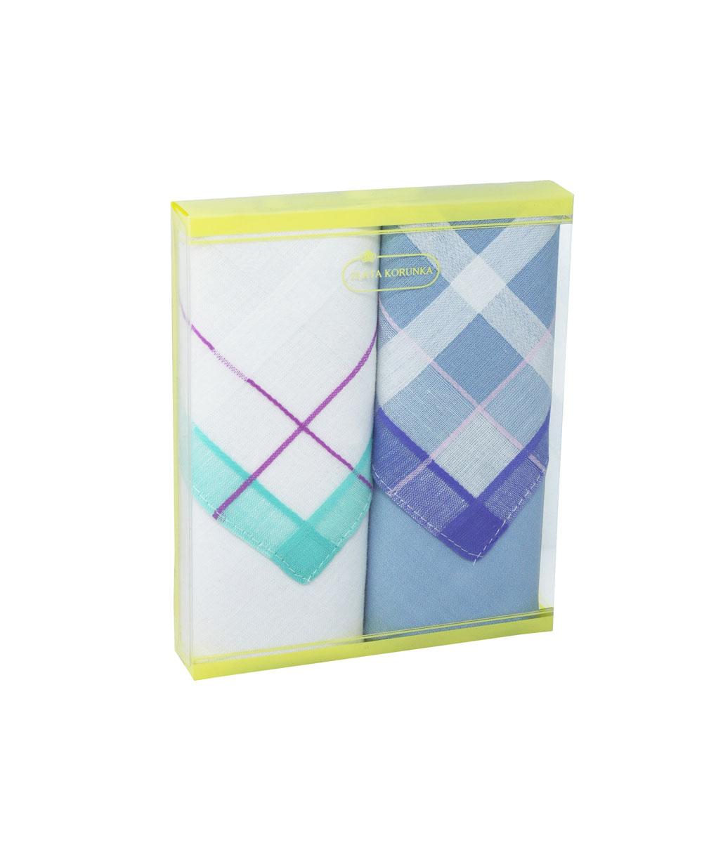 71225-1 Zlata Korunka Носовой платок женский, цвет: мультиколор, 34х34 см, 2 шт71225-1Платки носовые женские в упаковке по 2 шт. Носовые платки изготовлены из 100% хлопка, так как этот материал приятен в использовании, хорошо стирается, не садится, отлично впитывает влагу.