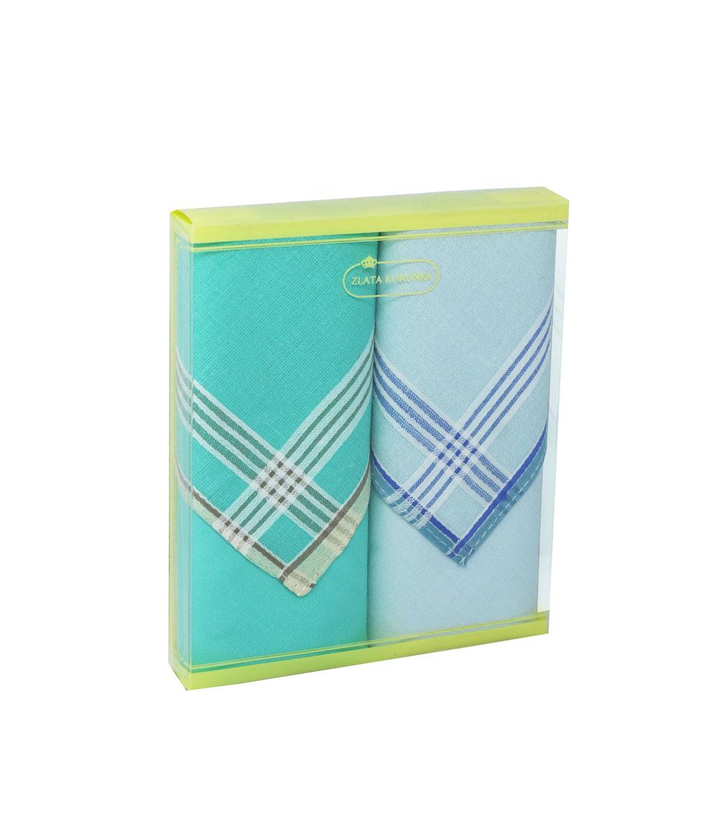 71225-10 Zlata Korunka Носовой платок женский, цвет: мультиколор, 34х34 см, 2 шт71225-10Платки носовые женские в упаковке по 2 шт. Носовые платки изготовлены из 100% хлопка, так как этот материал приятен в использовании, хорошо стирается, не садится, отлично впитывает влагу.