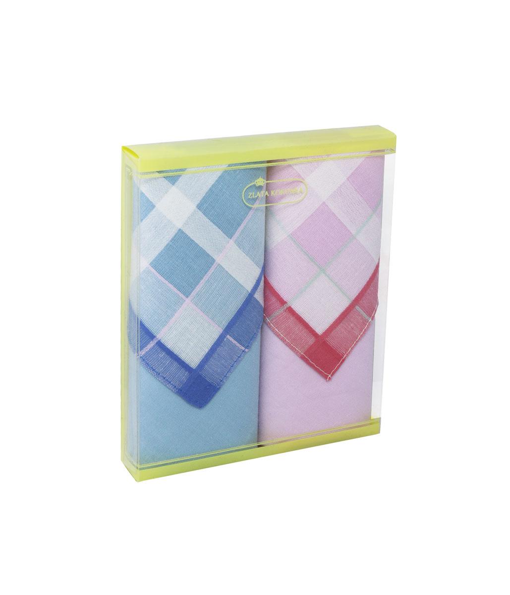 71225-3 Zlata Korunka Носовой платок женский, цвет: мультиколор, 34х34 см, 2 шт71225-3Платки носовые женские в упаковке по 2 шт. Носовые платки изготовлены из 100% хлопка, так как этот материал приятен в использовании, хорошо стирается, не садится, отлично впитывает влагу.