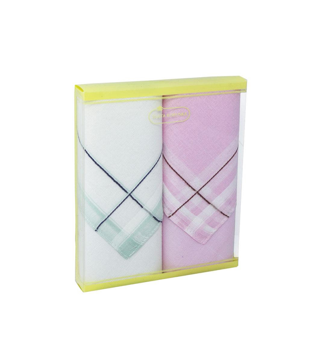 71225-4 Zlata Korunka Носовой платок женский, цвет: мультиколор, 34х34 см, 2 шт71225-4Платки носовые женские в упаковке по 2 шт. Носовые платки изготовлены из 100% хлопка, так как этот материал приятен в использовании, хорошо стирается, не садится, отлично впитывает влагу.